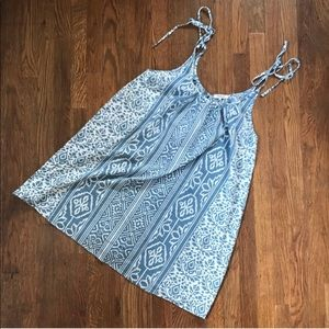 Madewell Chambray Tie Strap Dress Large